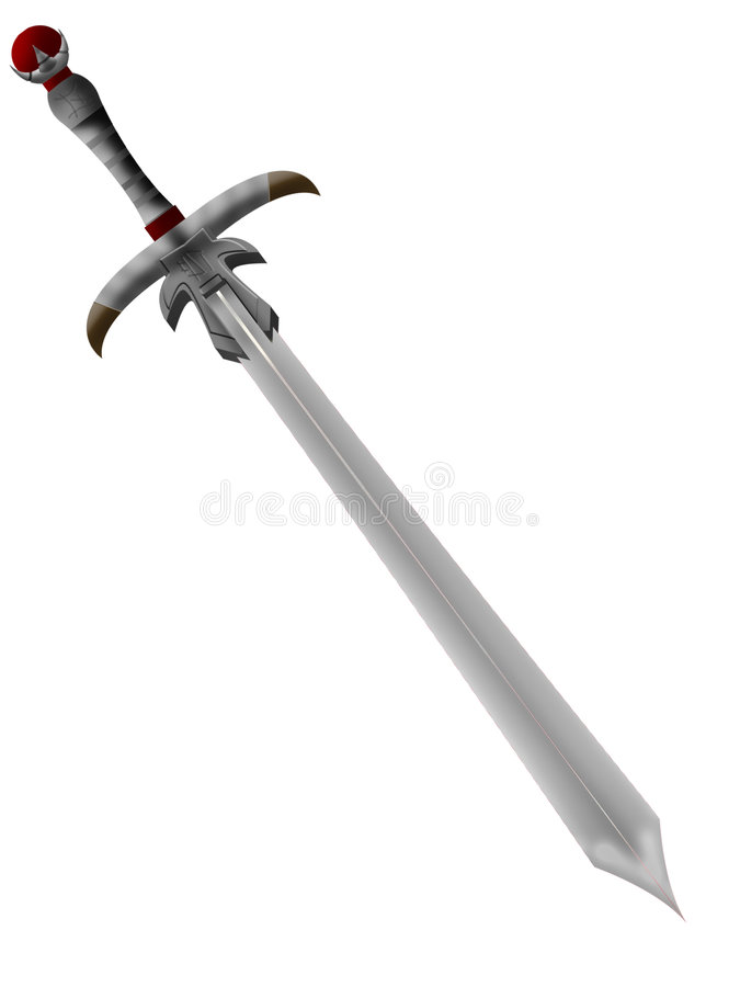 Ancient knightly vector illustration