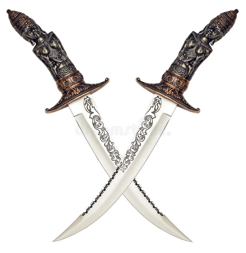 Ancient knives stock photography