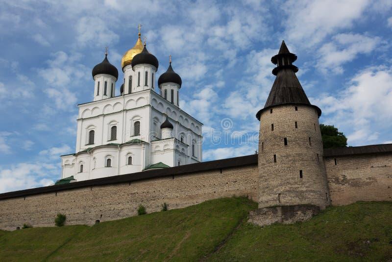 Ancient Kremlin in Pskov royalty free stock images