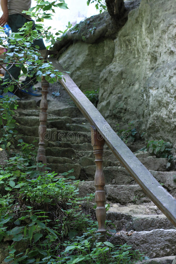 Ancient ladder stock image