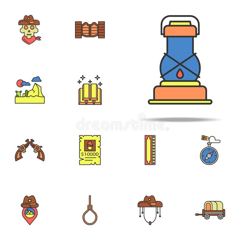 ancient lamp colored icon. Wild West icons universal set for web and mobile vector illustration