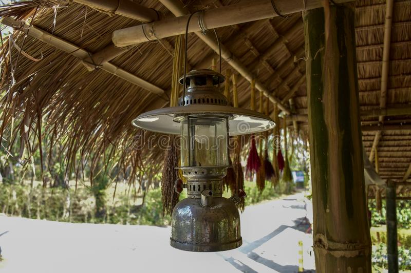 Ancient lanterns, Thai people. In the past, commonly used, called Hurricane lanterns royalty free stock photos
