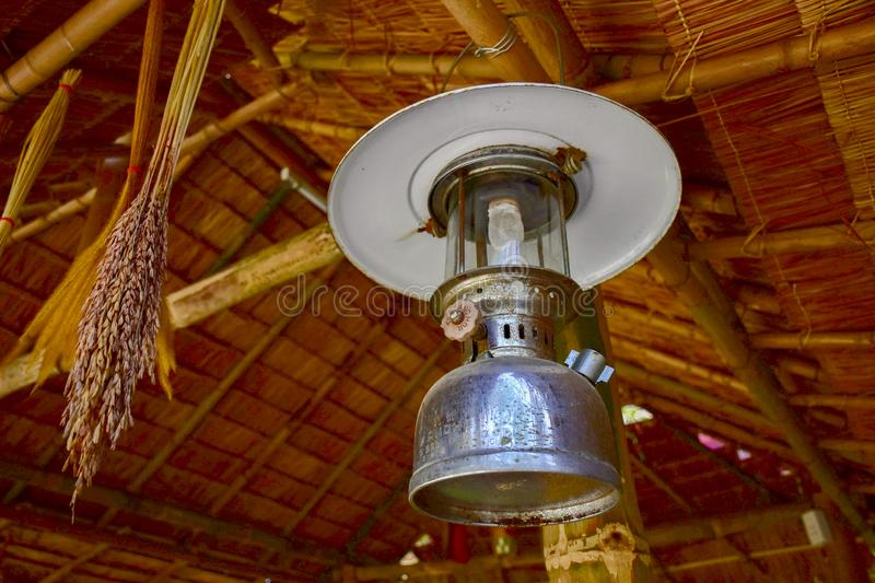 Ancient lanterns, Thai people. In the past, commonly used, called Hurricane lanterns royalty free stock photography