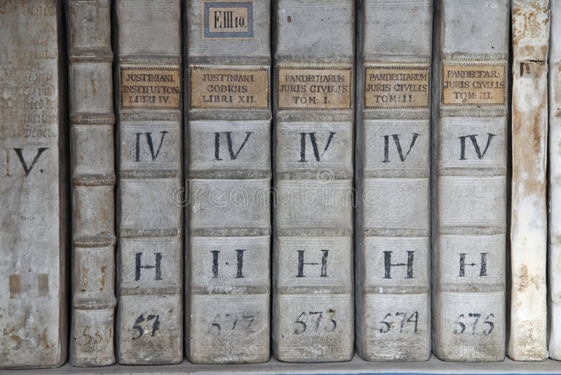 Ancient law books stock photos