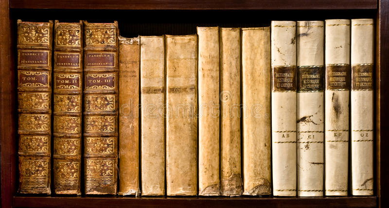 Ancient law books royalty free stock photography