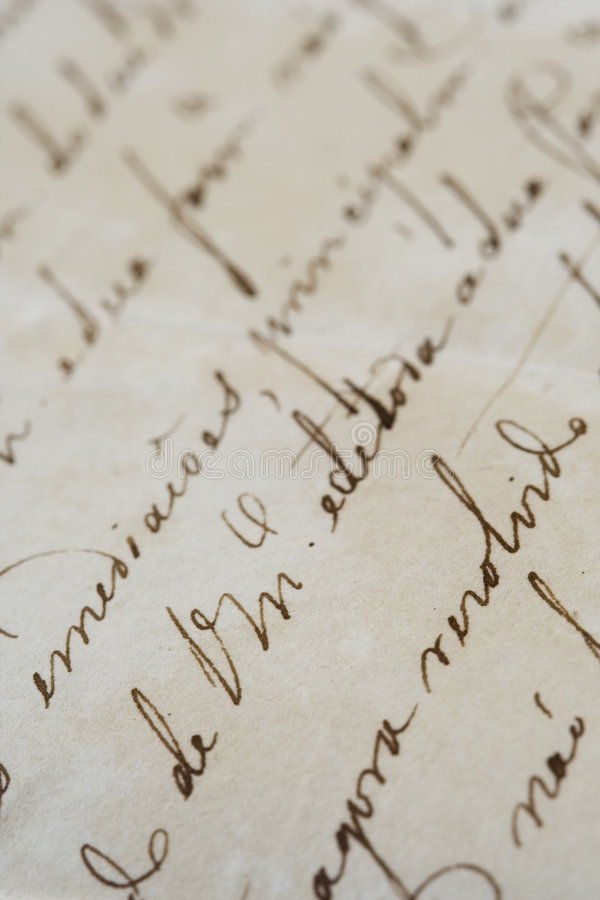 Download Ancient Letter Royalty Free Stock Photo - Image: 4271375
