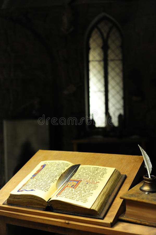 Ancient library royalty free stock photography