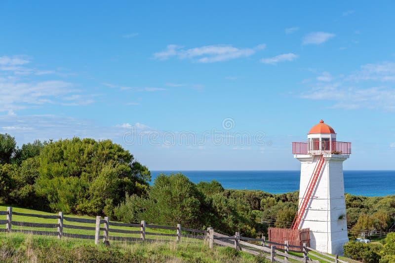 Ancient Lighthouse On Australian Coastline royalty free stock image