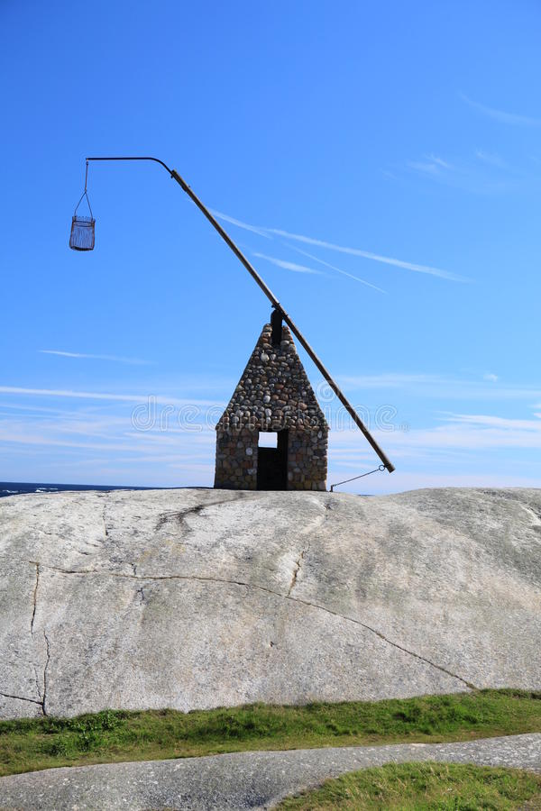 Ancient lighthouse - Tjøme, Norway. stock photos