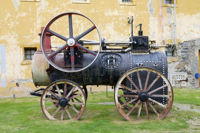 Maritime, Prison and Antarctic Museum in Ushuaia, Argentina. Ancient locomotive at Museo Maritimo y del Presidio de Ushuaia, Argentina. Maritime, Prison and stock photo