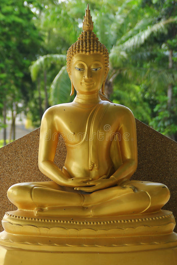 Ancient Lord Buddha Statue in thailand royalty free stock photo
