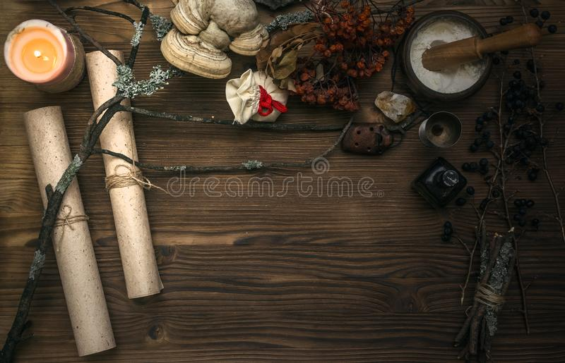 Tarot cards. Fortune teller. Divination. Witch doctor. stock photography
