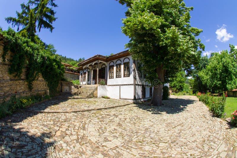 Ancient manor Bulgarian landowner in the Balkans stock photo