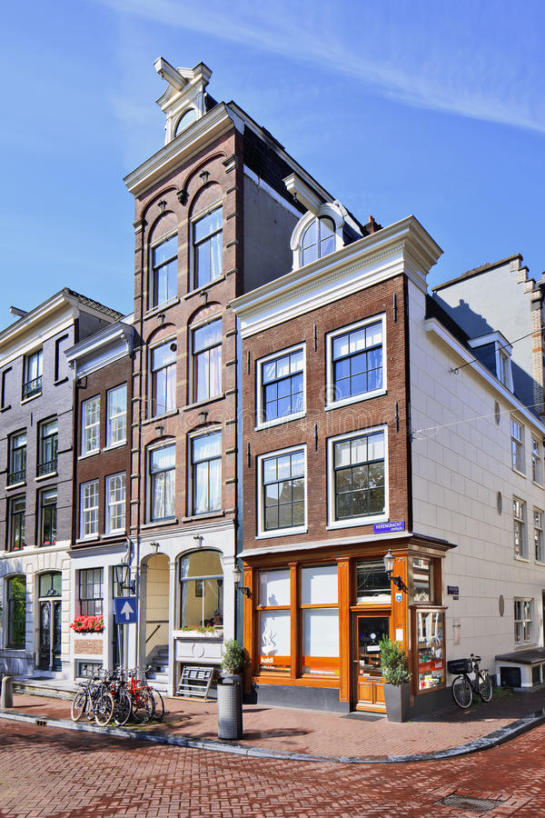 Ancient mansions at Herengracht, Amsterdam, Netherlands stock photos