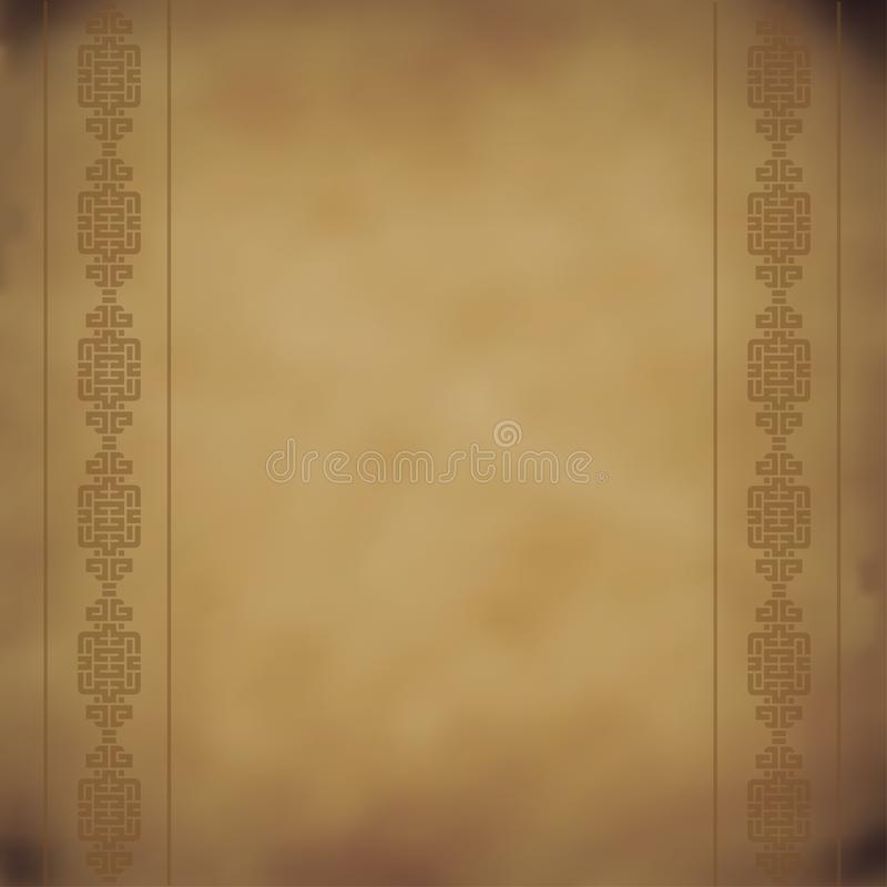 Ancient manuscript with a pattern , paper , vector royalty free illustration