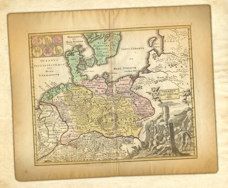 Ancient map. royalty free stock images
