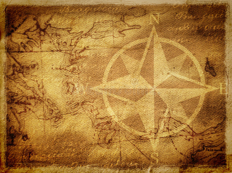 Ancient map background vector illustration