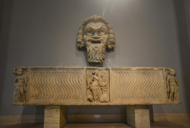 Ancient marble sculpture in Vatican Museums stock photo