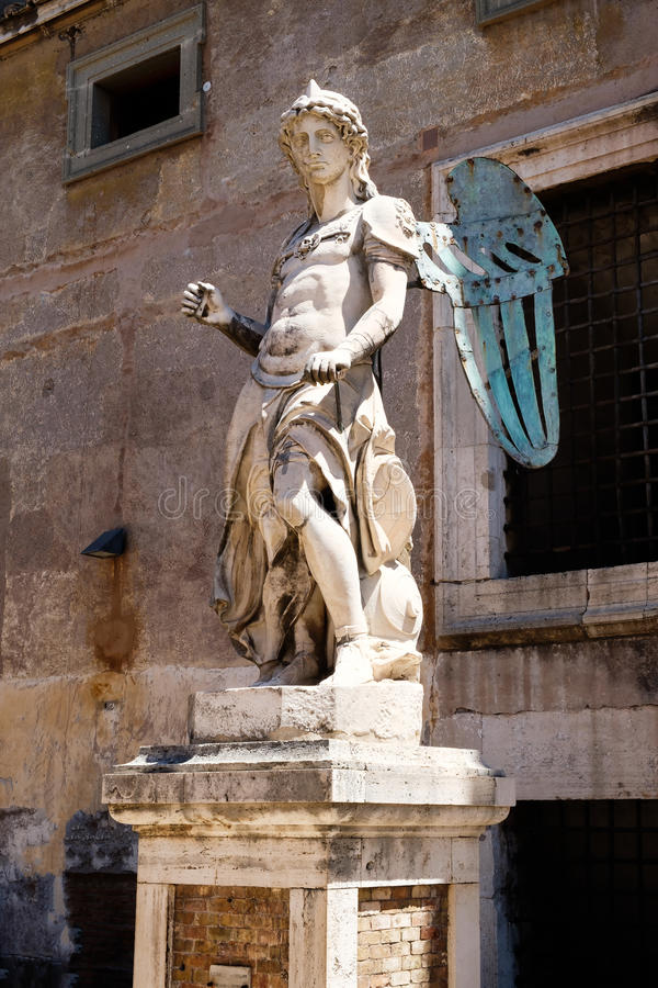 Marble Statue Of The Sea God Neptune Stock Image Image