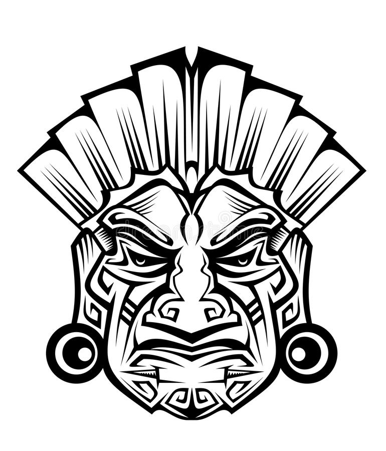 Download Ancient mask stock vector. Image of descent, mystery - 17093123