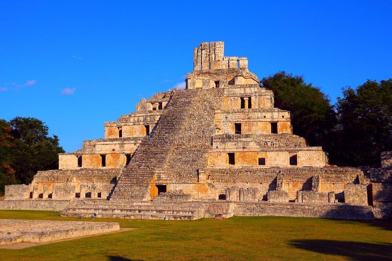 Ancient maya city of Edzna III royalty free stock photography