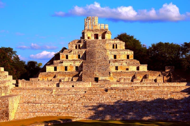 Ancient maya city of Edzna VIII stock image