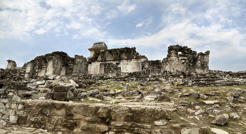 Ancient Mayan ruins in Palenque. Chiapas stock image