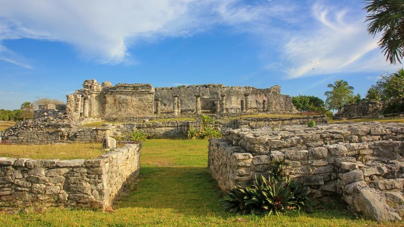 Mexico Quintana Roo Tulum Mayan ruins UNESCO World Heritage site royalty free stock image