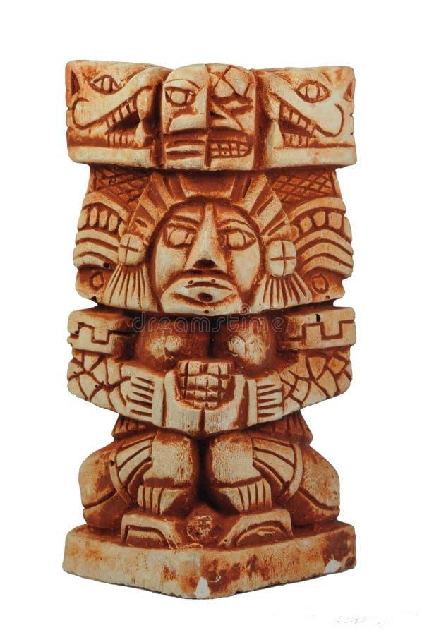 Ancient Mayan sculpture. Of an old Mayan god royalty free stock photos