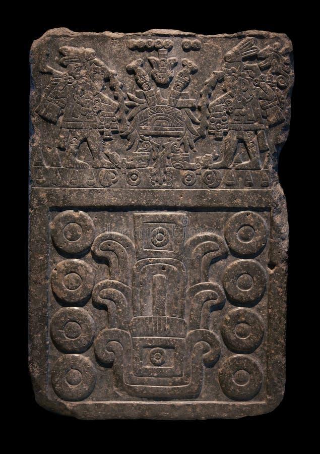 Ancient mayan stone carving stock photo image