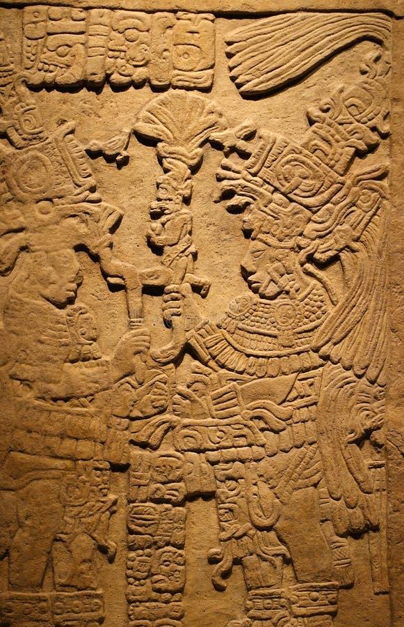 Ancient Mayan tablet stock photos