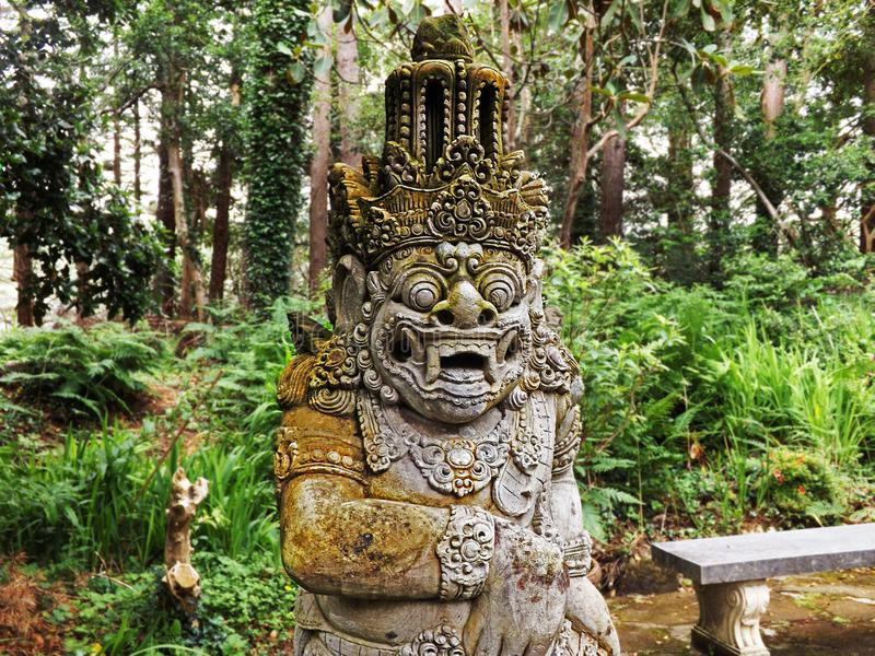 Ancient mayans statues stock images