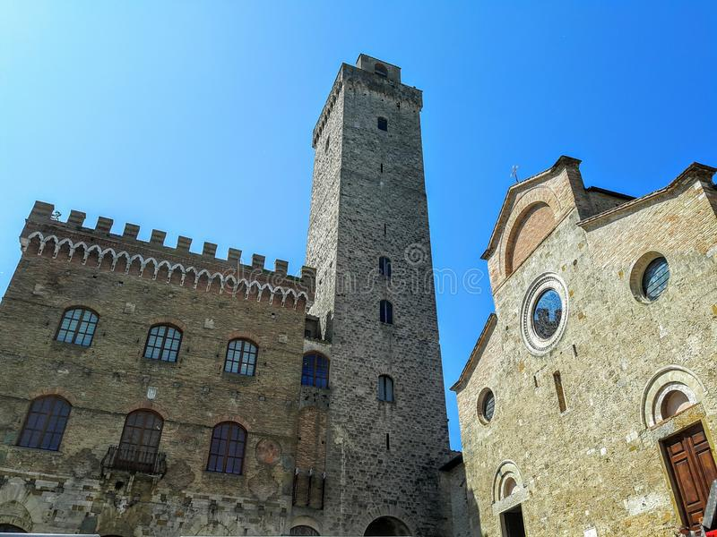 The ancient mediaval building in Tuscany stock image