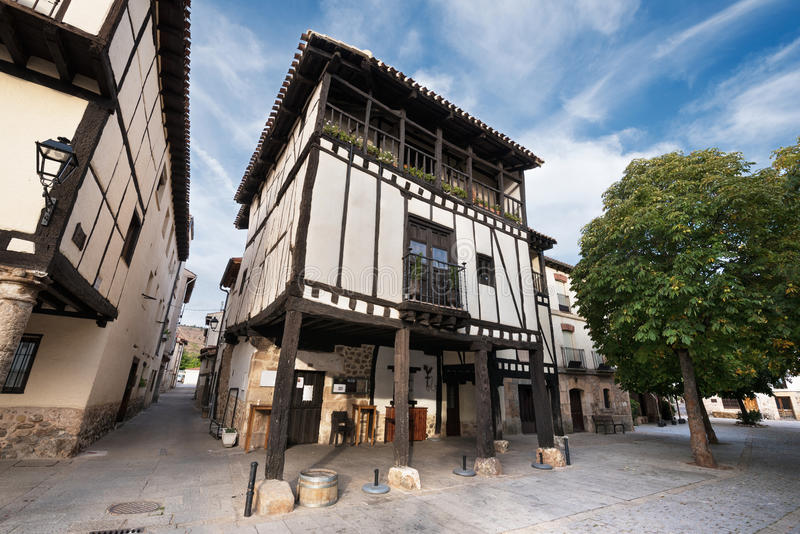 Ancient medieval buildings in the ancient city of Covarrubias, B stock photography