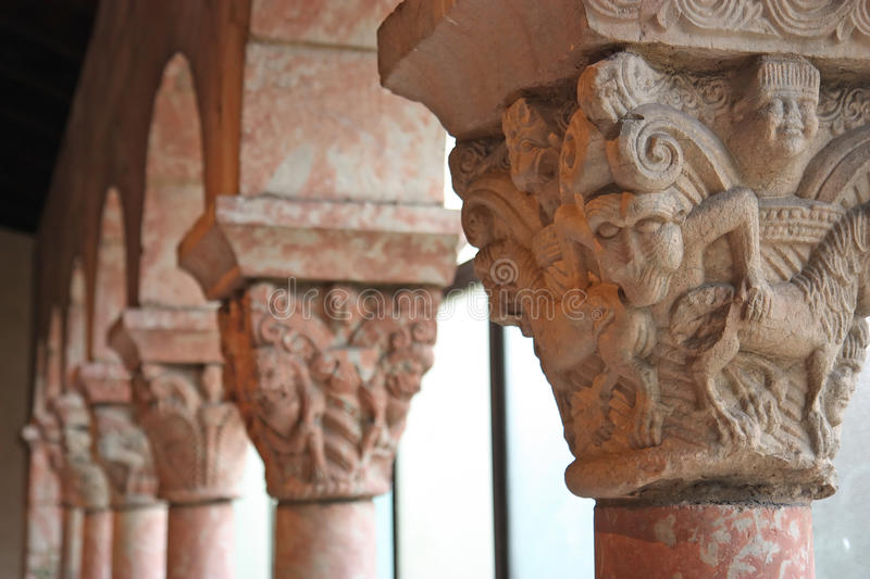 Download Ancient medieval columns stock image. Image of gothic - 14680377