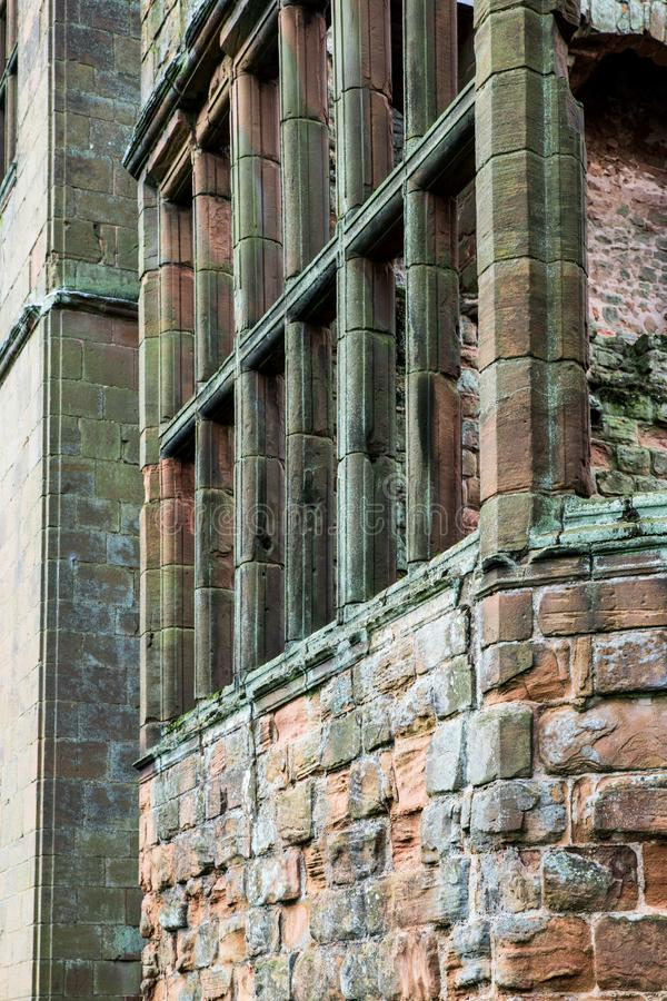 Ancient Medieval Ruins Details stock photography