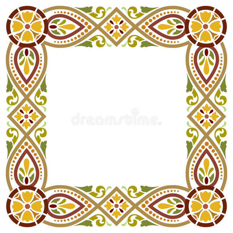 Ancient medieval style frame stock illustration