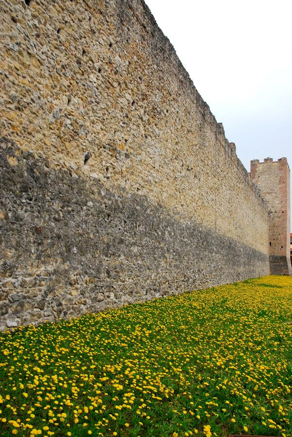 Ancient medieval walls of Marostica in Vicenza in Veneto (Italy). Photo made to Marostica's medieval walls in the province of Vicenza in Veneto (Italy). The stock photo