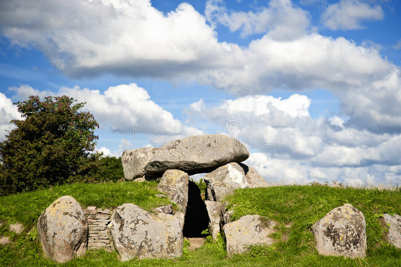 Ancient Megaltihic Tomb Stock Photo