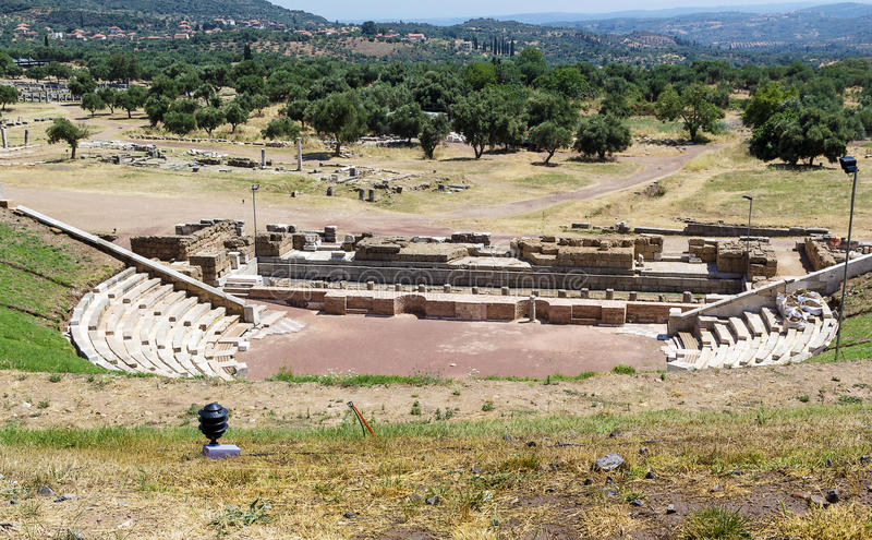 Download Ancient Messene, Greece stock image. Image of theater - 32413105