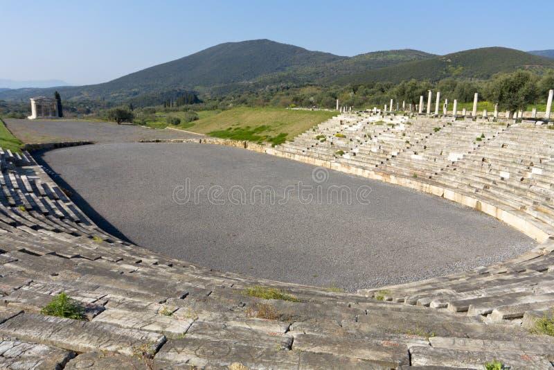 Ancient Messene at Kalamata, Greece. Ancient Messene and the stadium near Kalamata, Greece stock photos