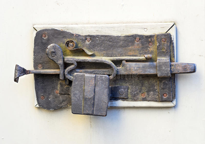 Ancient metal lock royalty free stock photo