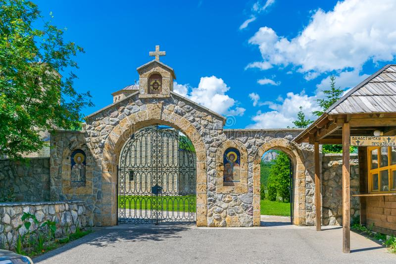 The monastery of Giurgiovi is in Montenegro. The ancient monastery of Giurgiovi is in Montenegro stock images