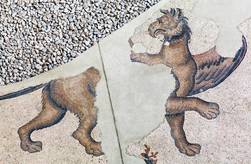 Ancient mosaic from the Byzantine period royalty free stock image