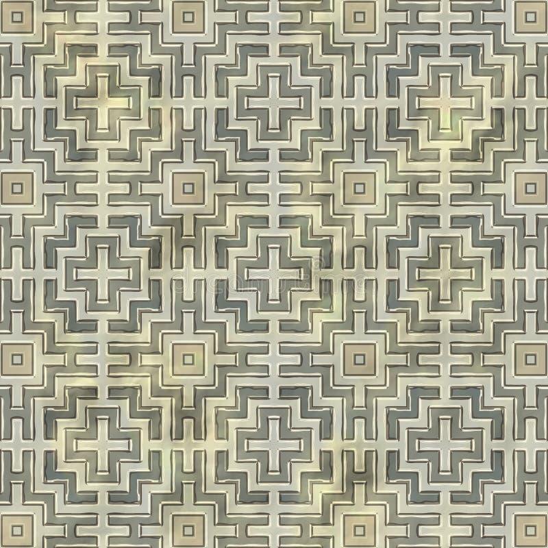 Ancient mosaic floor stock illustration