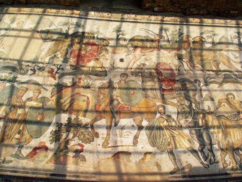Download Ancient Mosaic Villa Del Casale. Stock Image - Image: 20988905