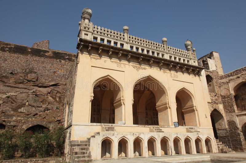 Download Ancient Mosque At Golconda Fort, Hyderabad Stock Photo - Image: 23855290