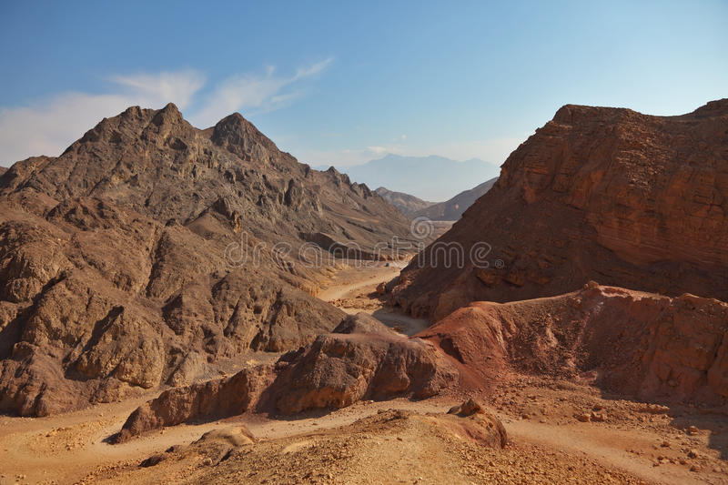 Download Ancient mountains in Eilat stock image. Image of lane - 13520379