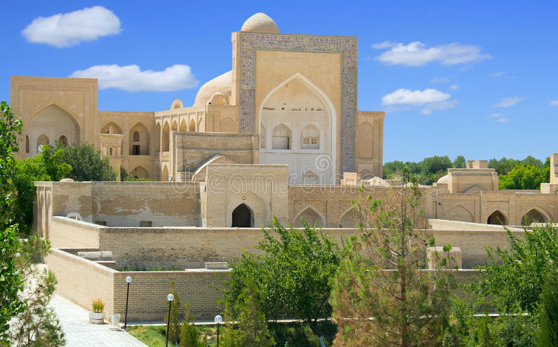 Ancient Muslim necropolis in Bukhara, Uzbekistan. The Ancient Muslim Architecture memorial Complex Chor-Bakr in Bukhara, was built over the burial place of Abu royalty free stock photos