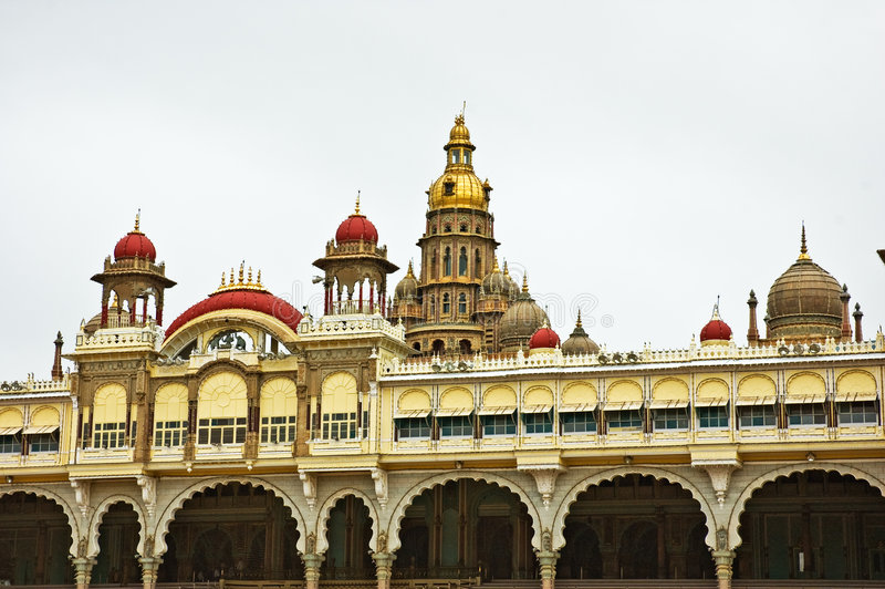 Ancient Mysore Palace Royalty Free Stock Photography